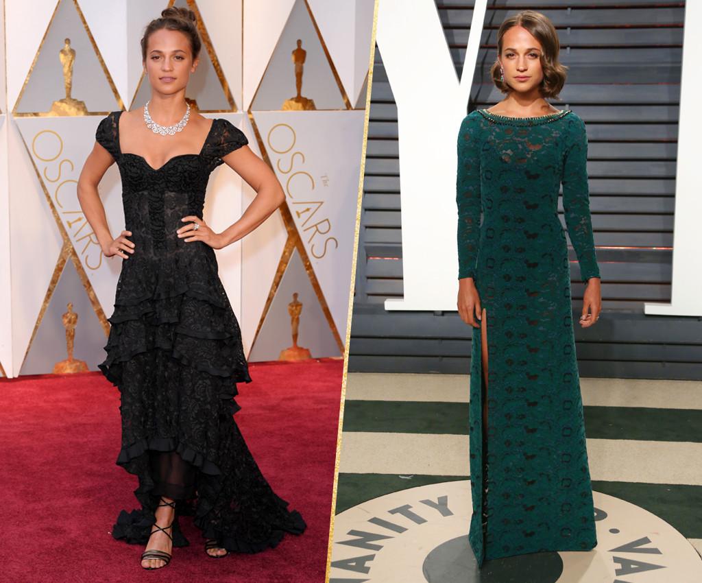 ESC, Alicia Vikander, 2017 Oscars, After-Party Looks