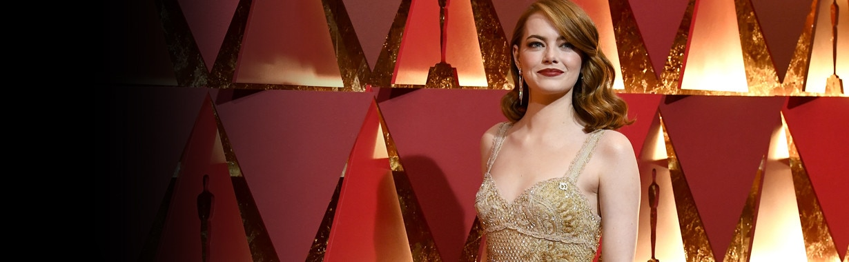 1230, Emma Stone, 2017 Oscars, Academy Awards, Winners
