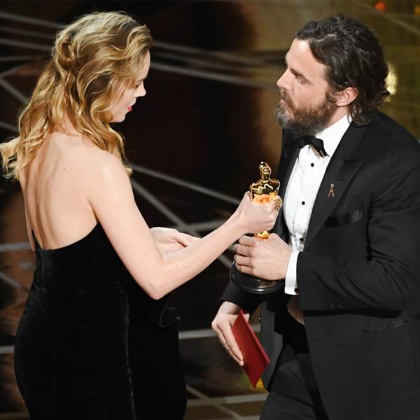 Casey Affleck, Brie Larson, 2017 Oscars, Academy Awards