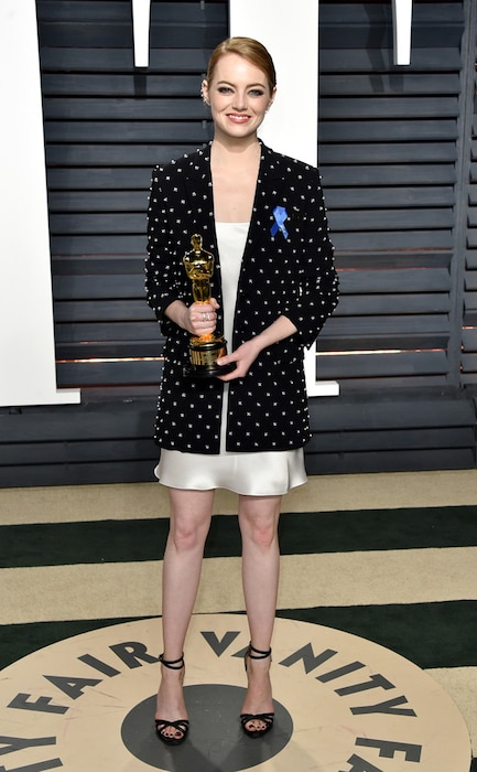 Emma Stone, 2017 Oscars, Vanity Fair After Party