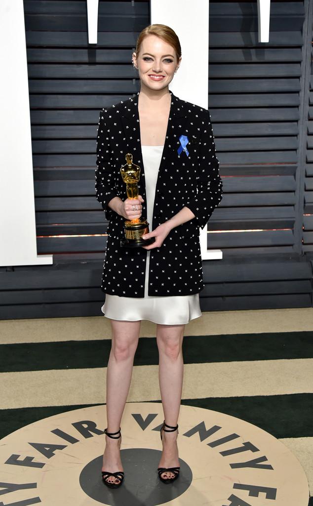 Emma Stone, 2017 Oscars, Vanity Fair After Party