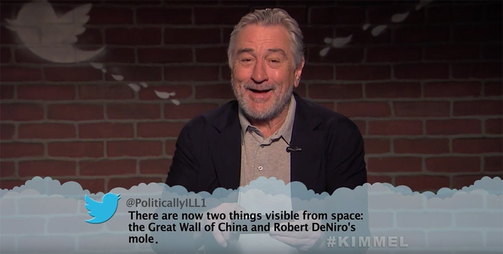 Robert De Niro, Mean Tweets