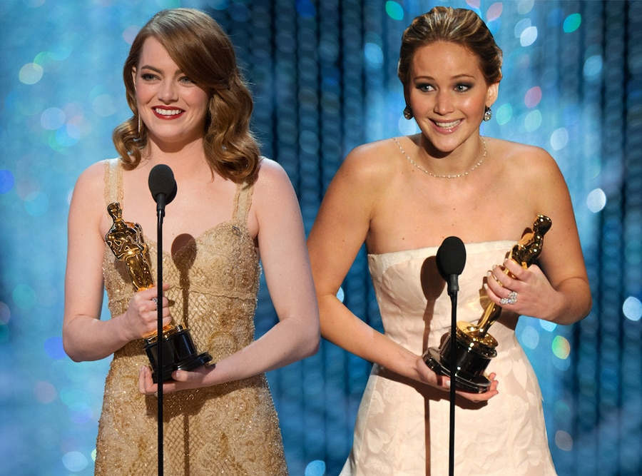 Emma Stone, Jennifer Lawrence, Oscar Win
