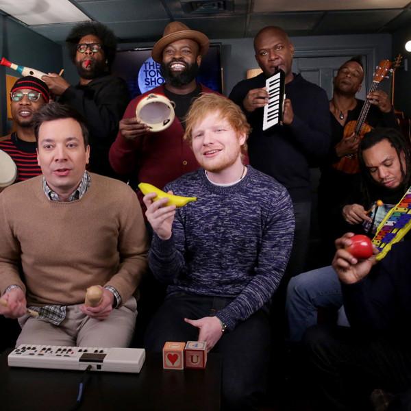 Jimmy Fallon, Ed Sheeran, The Roots, The Tonight Show