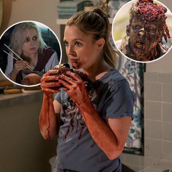 Drew Barrymore, Santa Clarita Diet, iZombie, Walking Dead