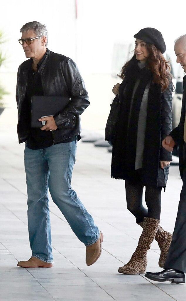 George Clooney, Amal Clooney, Pregnancy Fashion
