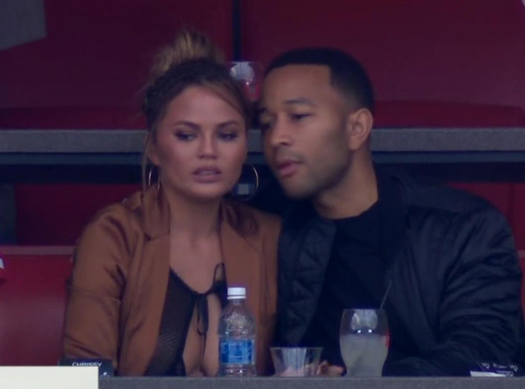 Chrissy Teigen, John Legend, 2017 Super Bowl