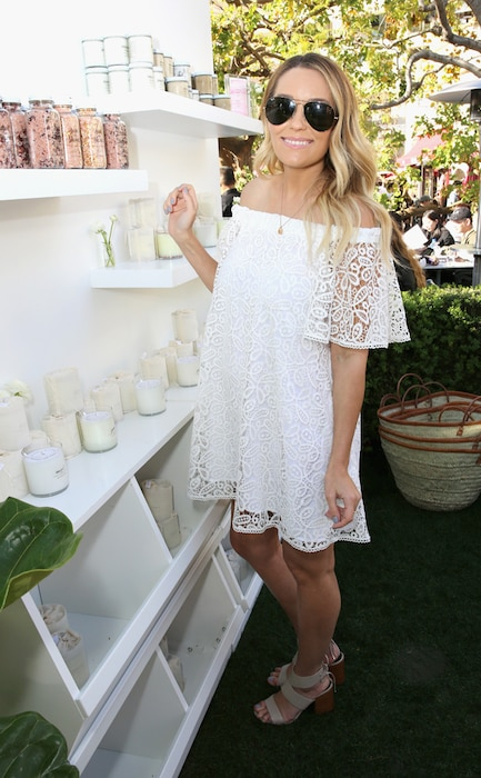 Lauren Conrad, Baby Bump, Rebecca Minkoff's ''See Now, Buy Now'' Fashion Show