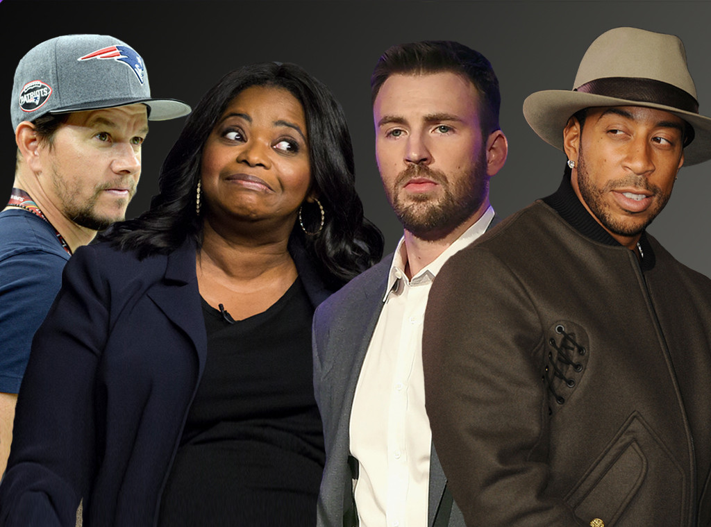 Mark Wahlberg, Octavia Spencer, Chris Evans, Ludacris, Celebrity Super Bowl Feud