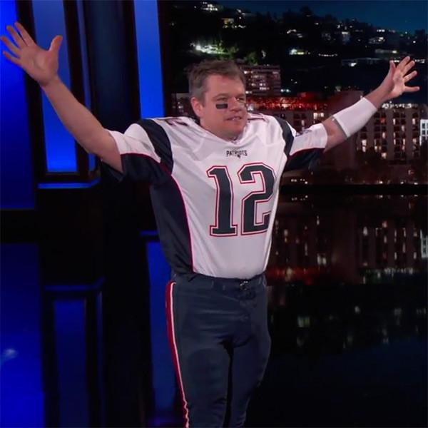 Matt Damon Sneaks Onto Jimmy Kimmel Live As Tom Brady E