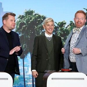 James Corden, Jesse Tyler Ferguson, Ellen DeGeneres