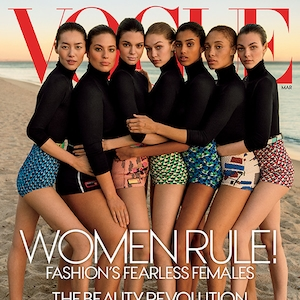Kendall Jenner, Gigi Hadid, Ashley Graham, Adwoa Aboah, Liu Wen, Vittoria Ceretti, Imaan Hammam, Vogue March 2017