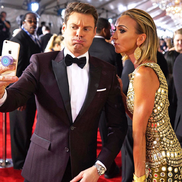 Ryan Seacrest, Giuliana Rancic, 2016 Grammy Awards, Candids