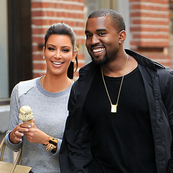 Kim Kardashian, Kanye West, Ice Cream, NYC