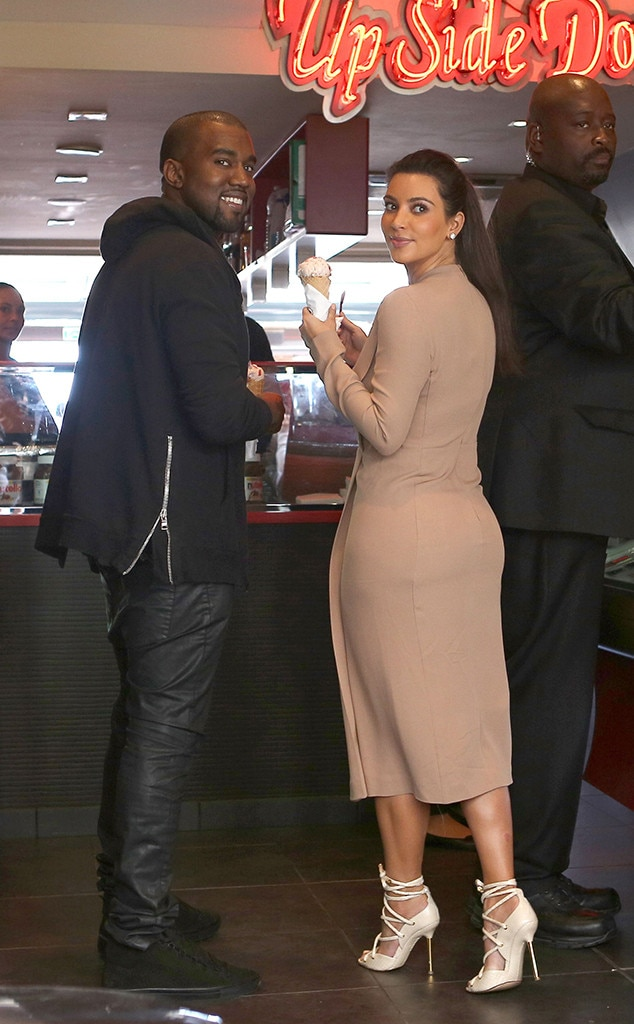 Kim Kardashian, Kanye West, Cannes, Ice Cream