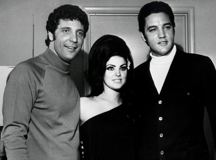 Priscilla Presley, Tom Jones, Elvis Presley