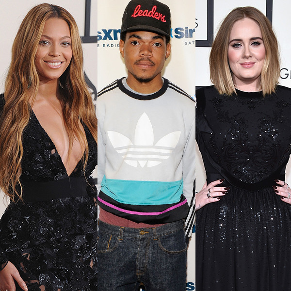 Chance The Rapper, Beyonce, Adele