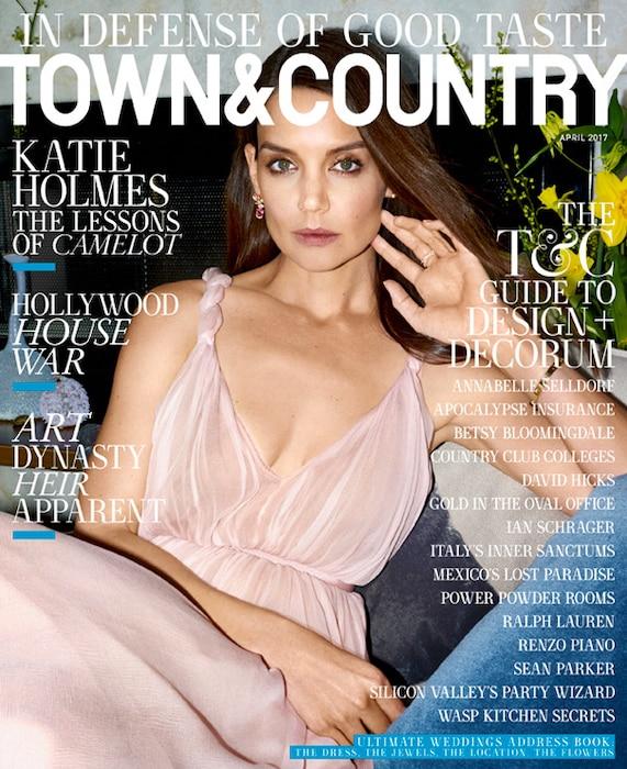 Katie Holmes, Town & Country Magazine, April 2017