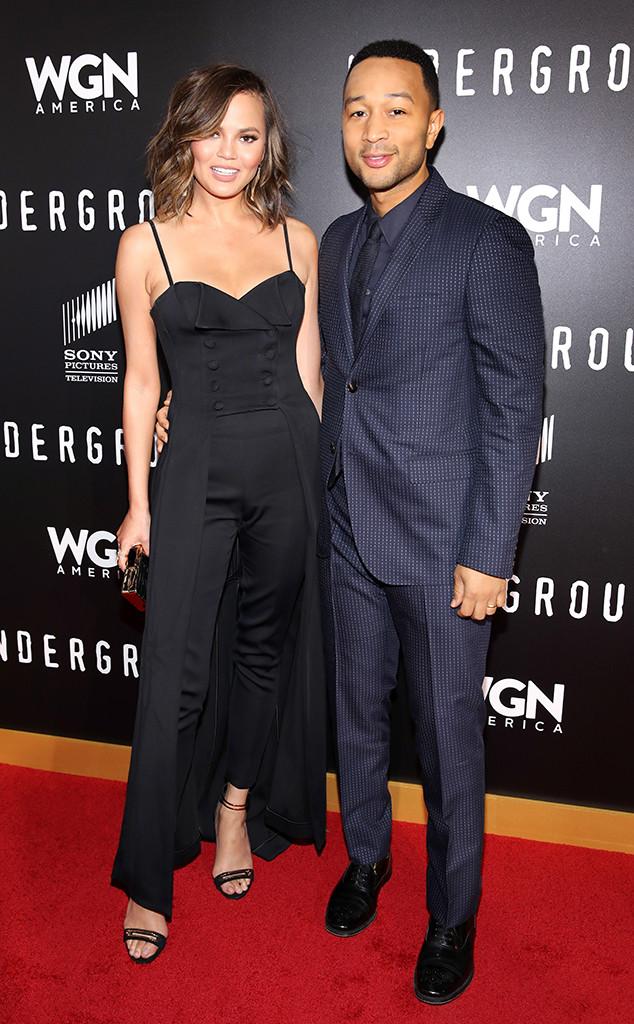Chrissy Teigen, John Legend, WGN Americas Underground Screening