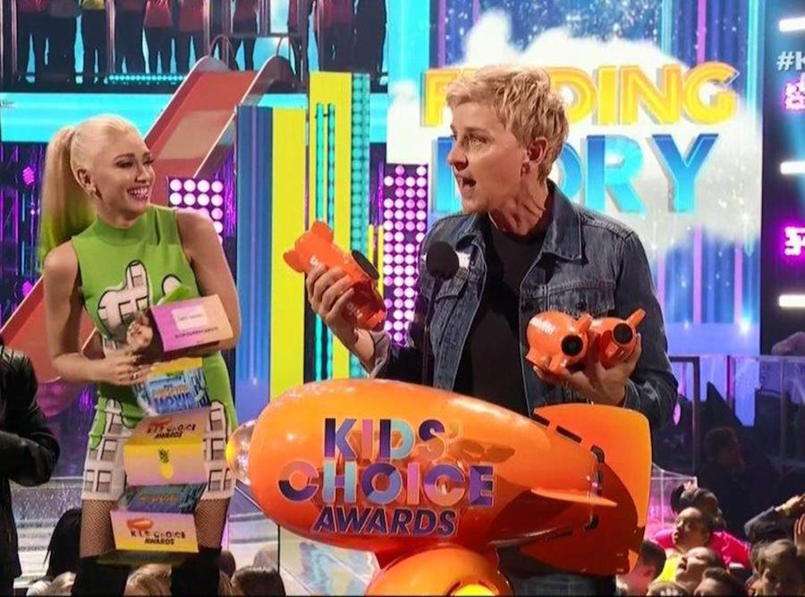 Ellen DeGeneres, 2017 Kids Choice Awards, Winners