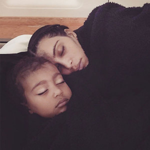 ESC: Kim Kardashian, North West, Napping