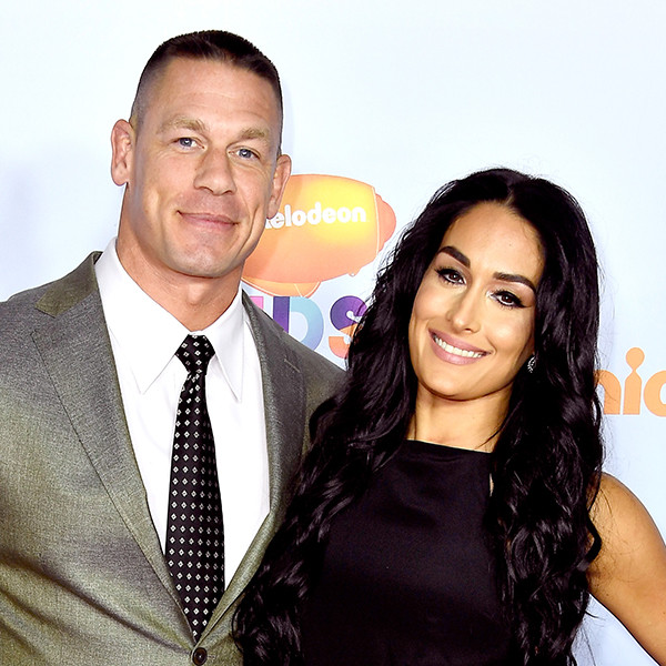 John Cena, Nikki Bella, 2017 Kids Choice Awards, Arrivals
