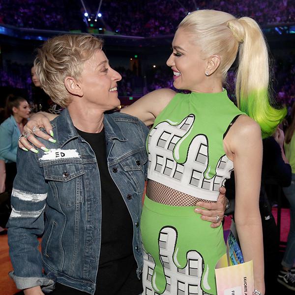 Ellen DeGeneres, Gwen Stefani, 2017 Kids Choice Awards, Candids