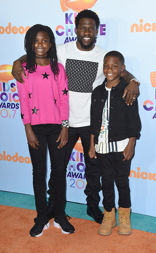 Kevin Hart, Heaven Hart, Hendrix Hart, 2017 Kids Choice Awards, Arrivals