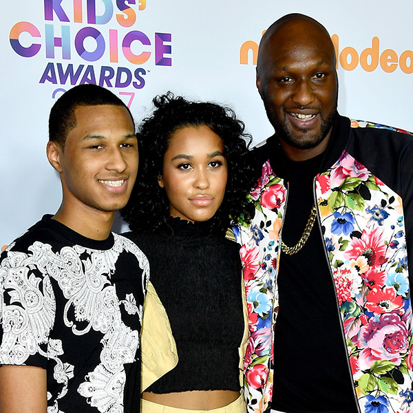 Lamar Odom, Lamar Odom Jr., Destiny, 2017 Kids Choice Awards, Arrivals