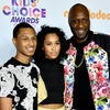 Lamar Odom, Lamar Odom Jr., Destiny, 2017 Kids Choice Awards, Arrivals