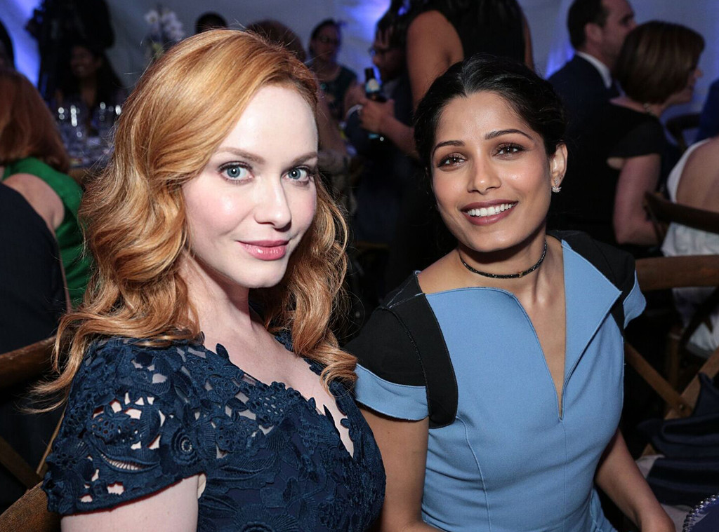 Christina Hendricks, Frieda Pinto