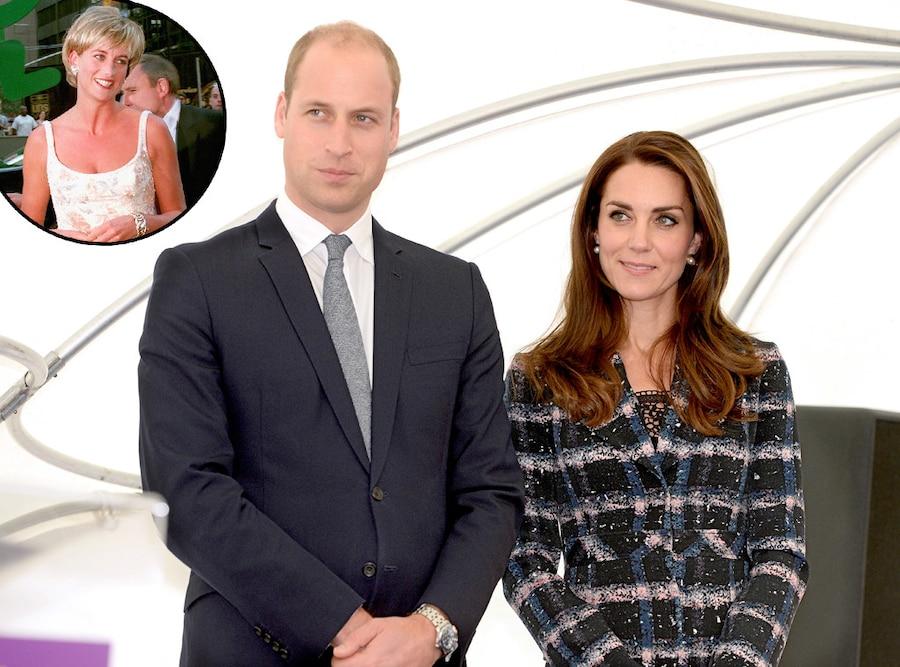 Princess Diana, Kate Middleton, Prince William