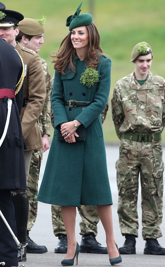 ESC: Kate Middleton, St. Patricks Day 2014