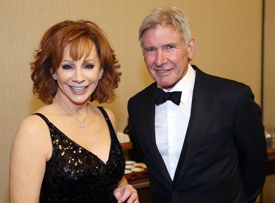 Reba McEntire, Harrison Ford, Celebrity Fight Night