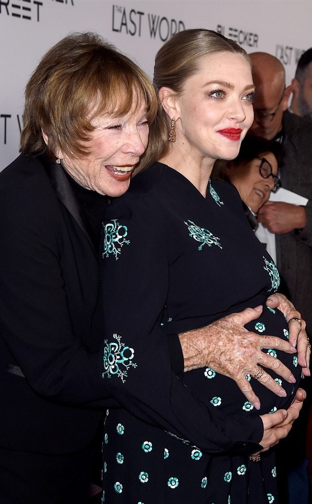 Actors Shirley MacLaine, Amanda Seyfried