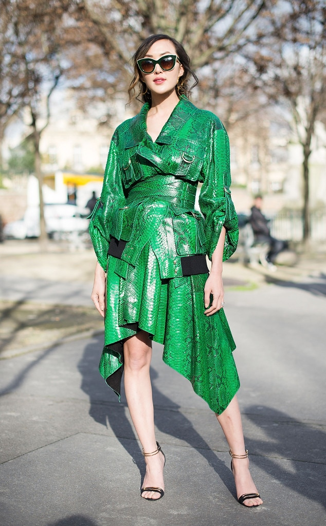 Chriselle Lim From Best Street Style From Paris Fashion