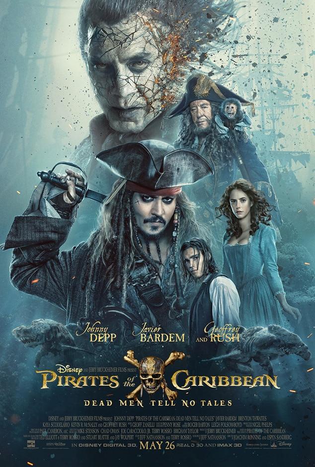 Pirates of the Caribbean: Dead Men Tell No Tales, Johnny Depp, Poster