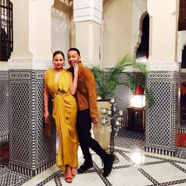 ESC: Chrissy Teigen & John Legend in Marrakech, Decor