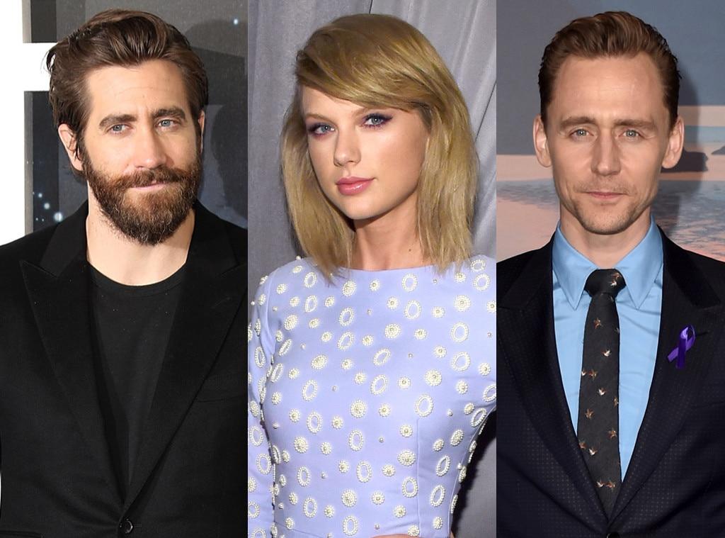 Jake Gyllenhaal, Taylor Swift, Tom Hiddleston