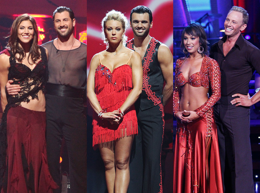 Hope Solo, Maksim Chmerkovskiy, Kate Gosselin, Tony Dovolani, Ian Ziering, Cheryl Burke, Dancing With The Stars