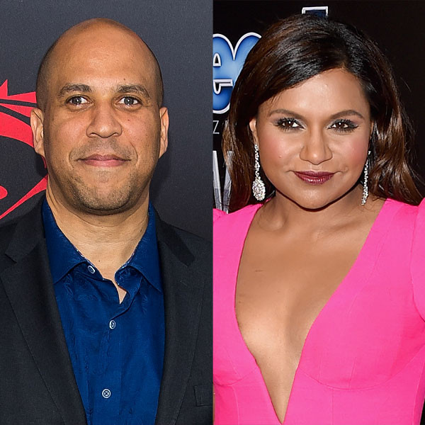 Cory Booker, Mindy Kaling