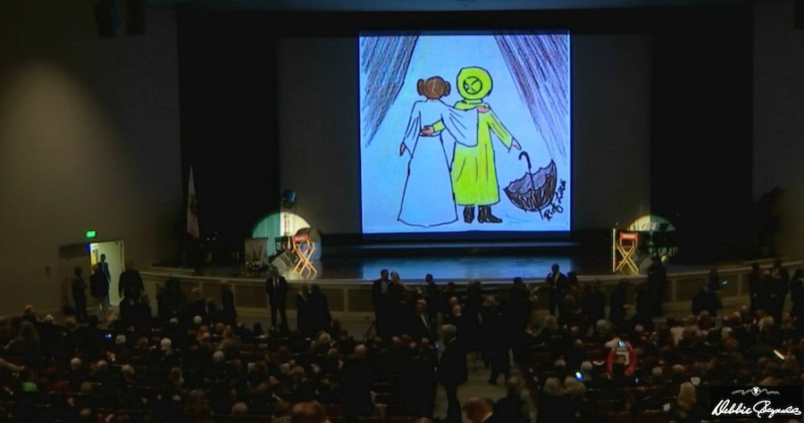 Carrie Fisher, Debbie Reynolds, Memorial