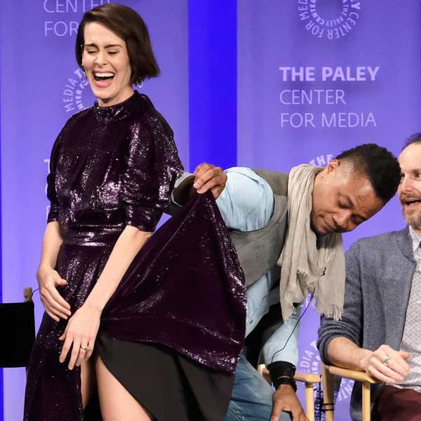 Cuba Gooding Jr. Lifted Sarah Paulson's Skirt and the Internet Is Alarmed | E! News