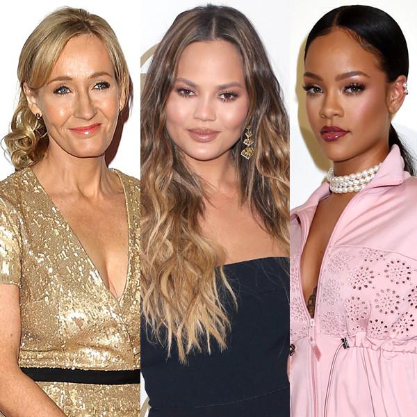 Chrissy Teigen, Rihanna, J.K. Rowling