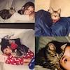 Nina Dobrev, Cat, Instagram