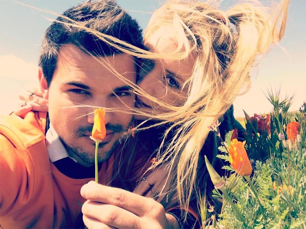 Taylor Lautner with girlfriend Billie Lourd