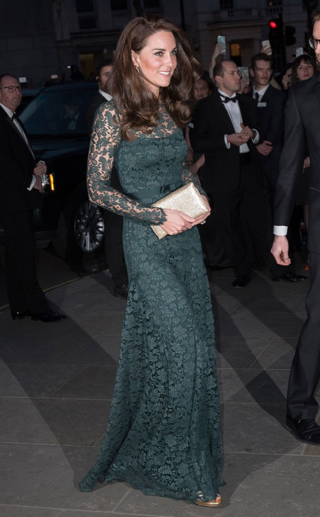 What a Gem! Kate Middleton Glows in Green at 2017 Portrait ...