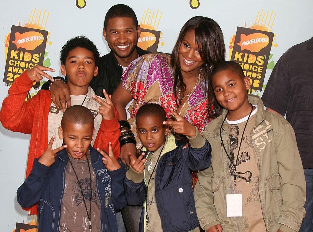 Usher, Tameka Foster, Kile Glover