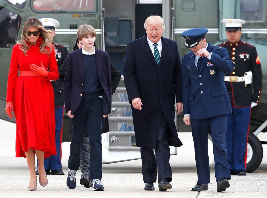 Melania Trump, Barron Trump, Donald Trump