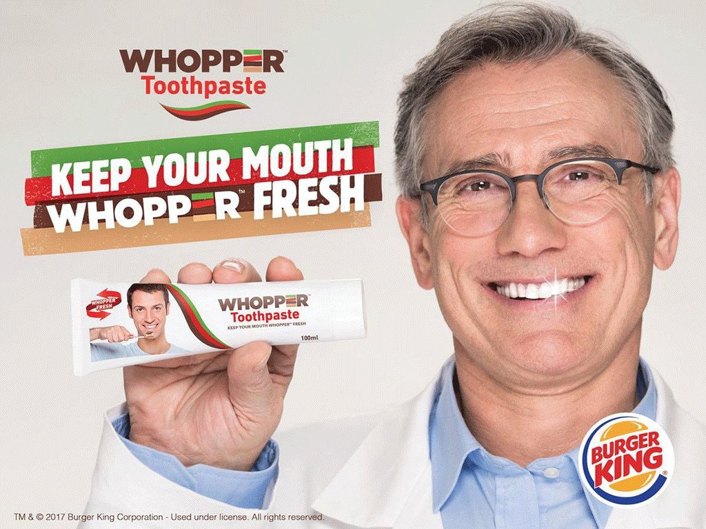 Burger King Created Whopper-Flavored Toothpaste, and the Internet Fell for It
